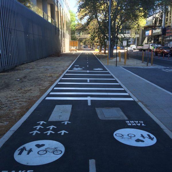 Perth city Western Australia pathway mounts bay road
