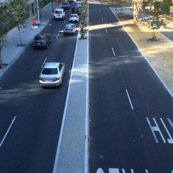 new road on mounts bay road Perth Western Australia