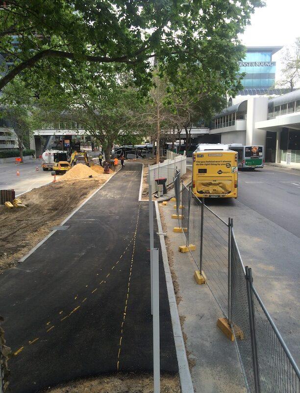 Perth city Western Australia road works