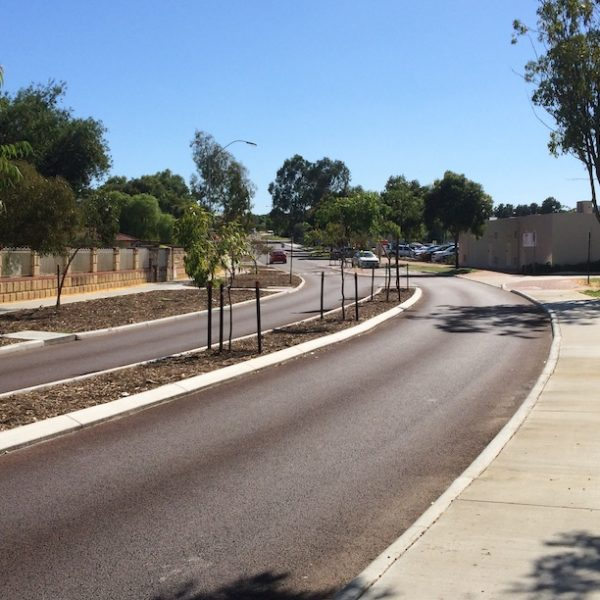 road resurfacing in south Perth