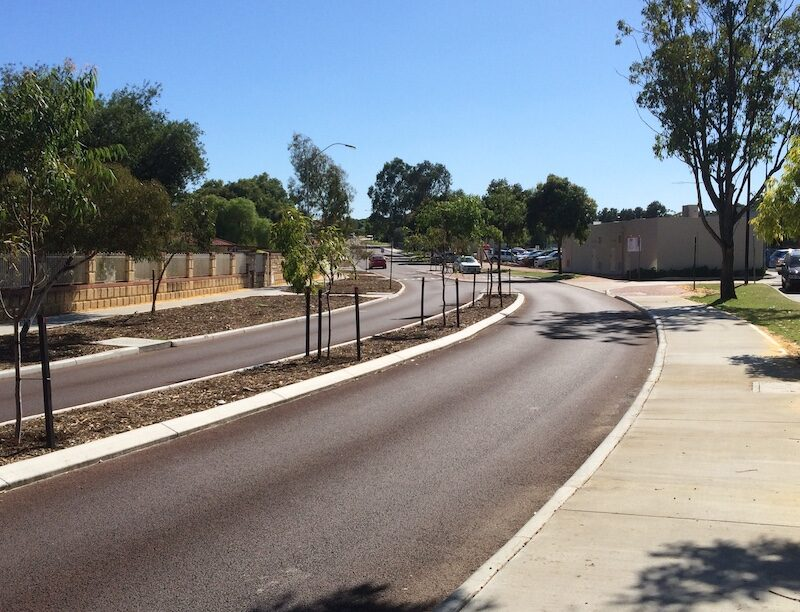 road resurfacing in south Perth
