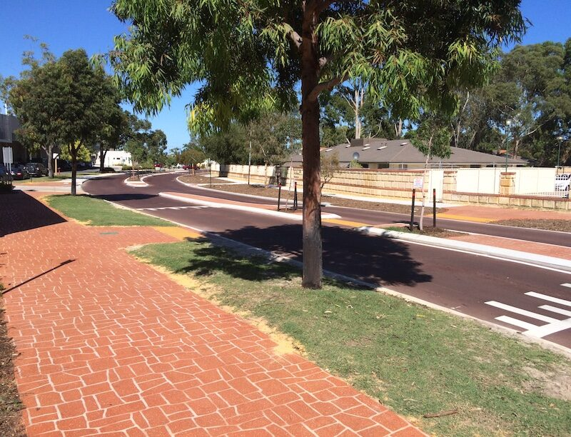 suburban roads re surfacing city of south Perth