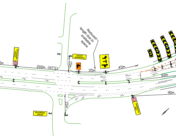 traffic management plans using the AutoCAD system
