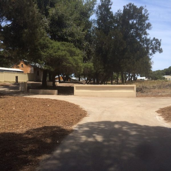 new pathway at Rottnest island around the burial site