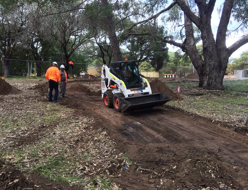 pathway getting cleared for new footpath around burial site on Rottnest island